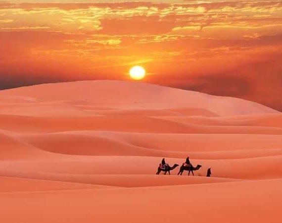 Desierto de Merzouga en Marruecos