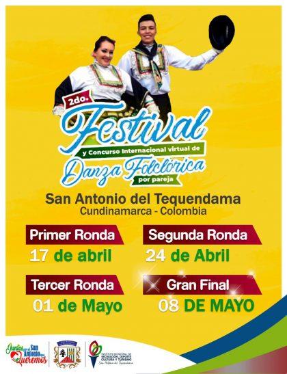 II Festival y Concurso Internacional Virtual de Danza Folclórica por pareja en San Antonio del Tequendama