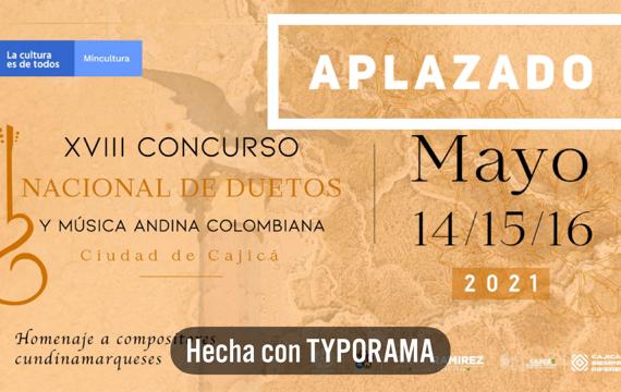 """XVIII Concurso Nacional de Duetos y Música Andina Colombiana """"Ciudad de Cajicá"""""""