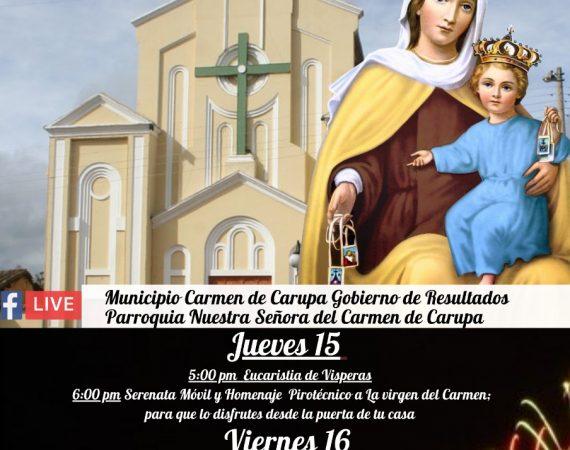 Festival de la Virgen del Carmen en Carmen de Carupa