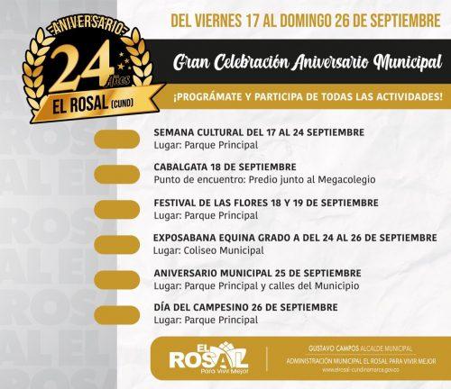 XVII Semana cultural Chingas y 24 cumpleaños de celebración de El Rosal